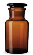 Frasco-Reagente-Alcalino-Ambar-Boca-Larga-com-Rolha-de-Vidro
