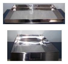 Bandeja em Aço Inox 304 ou Aço Inox 316L