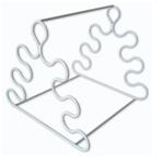 Estante Triangular em Arame Revestida com PVC para Pipetas