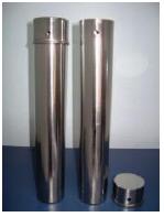 Estojo Cilíndrico em Aço Inox 304 para Esterilizar Pipetas