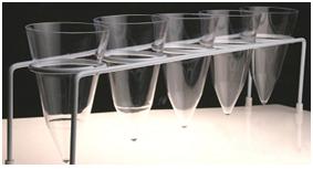 Suporte para Cones de Sedimentação em Arame com PVC