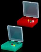 Caixa (Rack)  para tubos Criogênicos com tampa com dobradiça