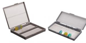 Caixa porta lâminas de microscopia