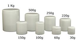 Pote Plásticos em Polietileno (PEAD) com tampa rosca
